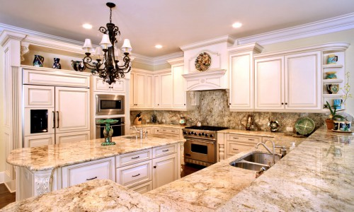 Golden Oak Granite Kitchen Countertop Backsplash | ADP Surfaces Orlando